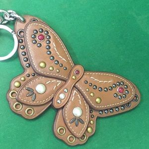 "Coach Butterfly Keychain  6"" Wide"